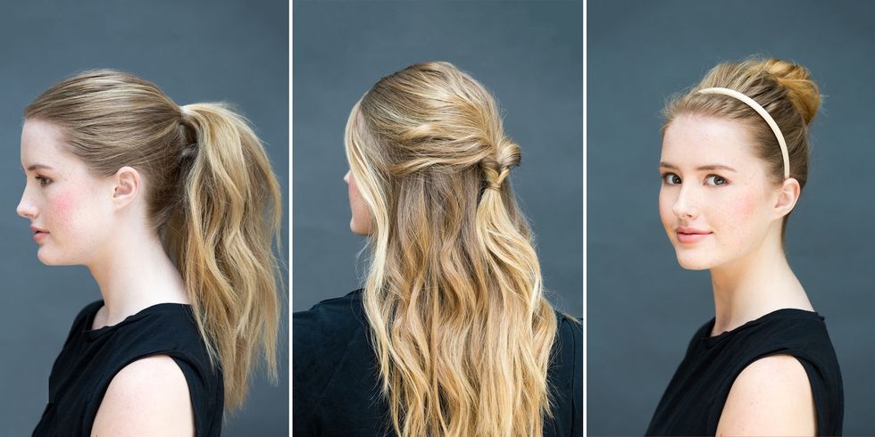 Quick and easy hairstyle for getting ready for work