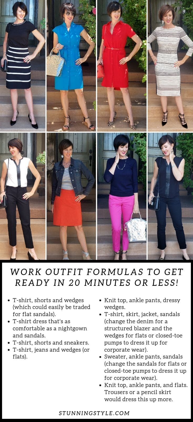 Work outfit formulas to get ready in 20 minutes or less
