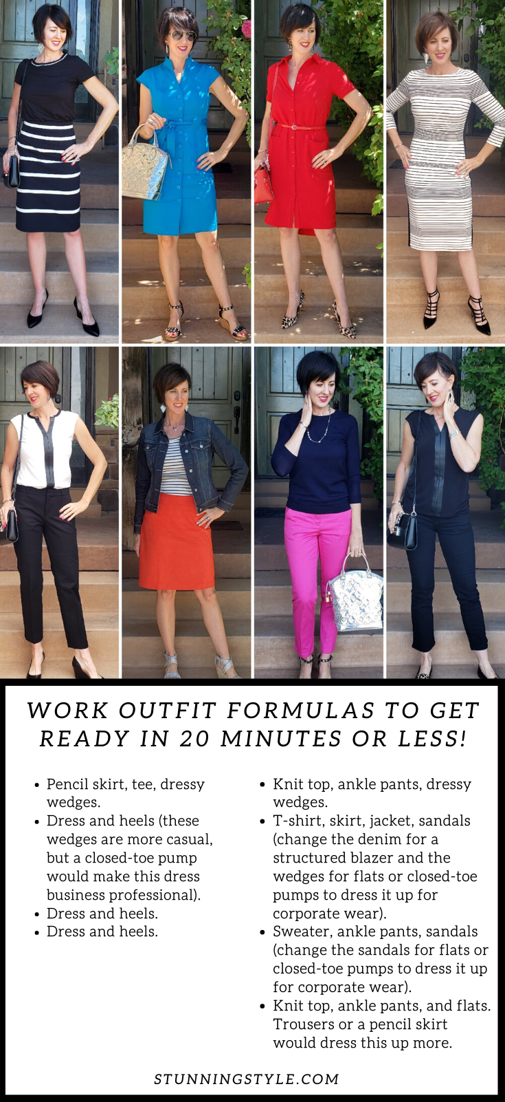 Work outfit formulas to get ready in  minutes or less