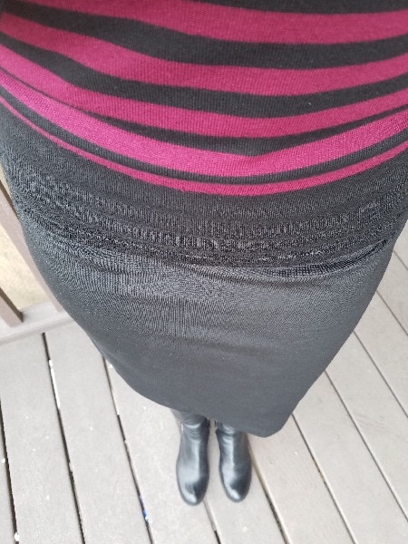 Burgundy black stripe sweater