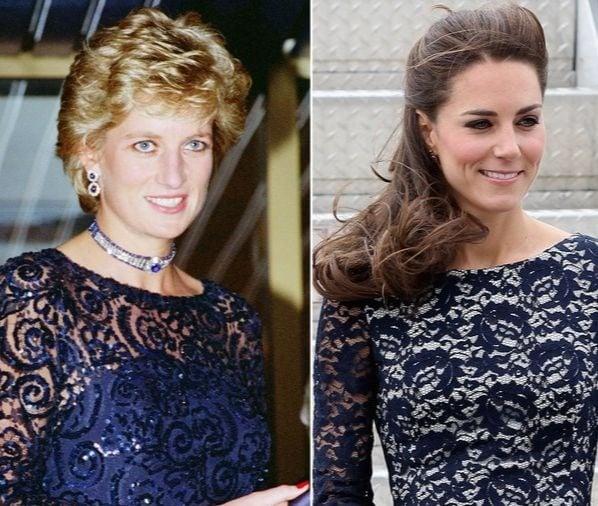 Kate and Diana Dressed Alike