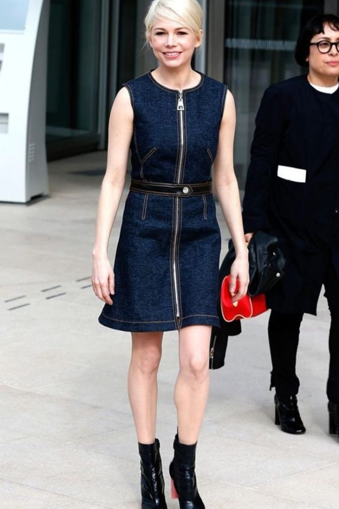 Michelle Williams Zipper Dress