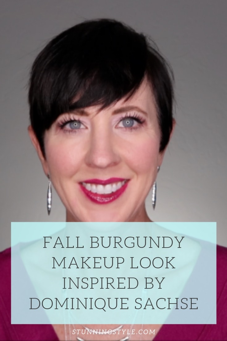 NEW fall Burgundy Makeup Look Inspired
