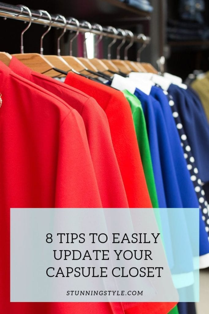 8 Tips to easily update your capsule closet