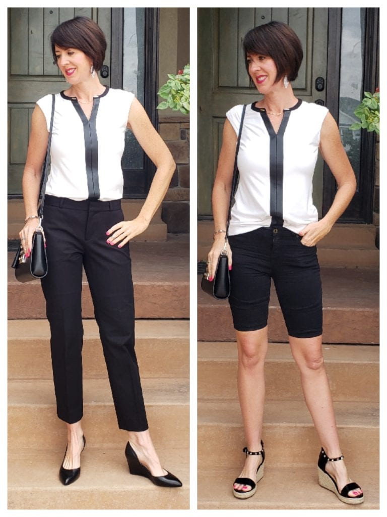 Work Capsule Wardrobe switch pants and shoes