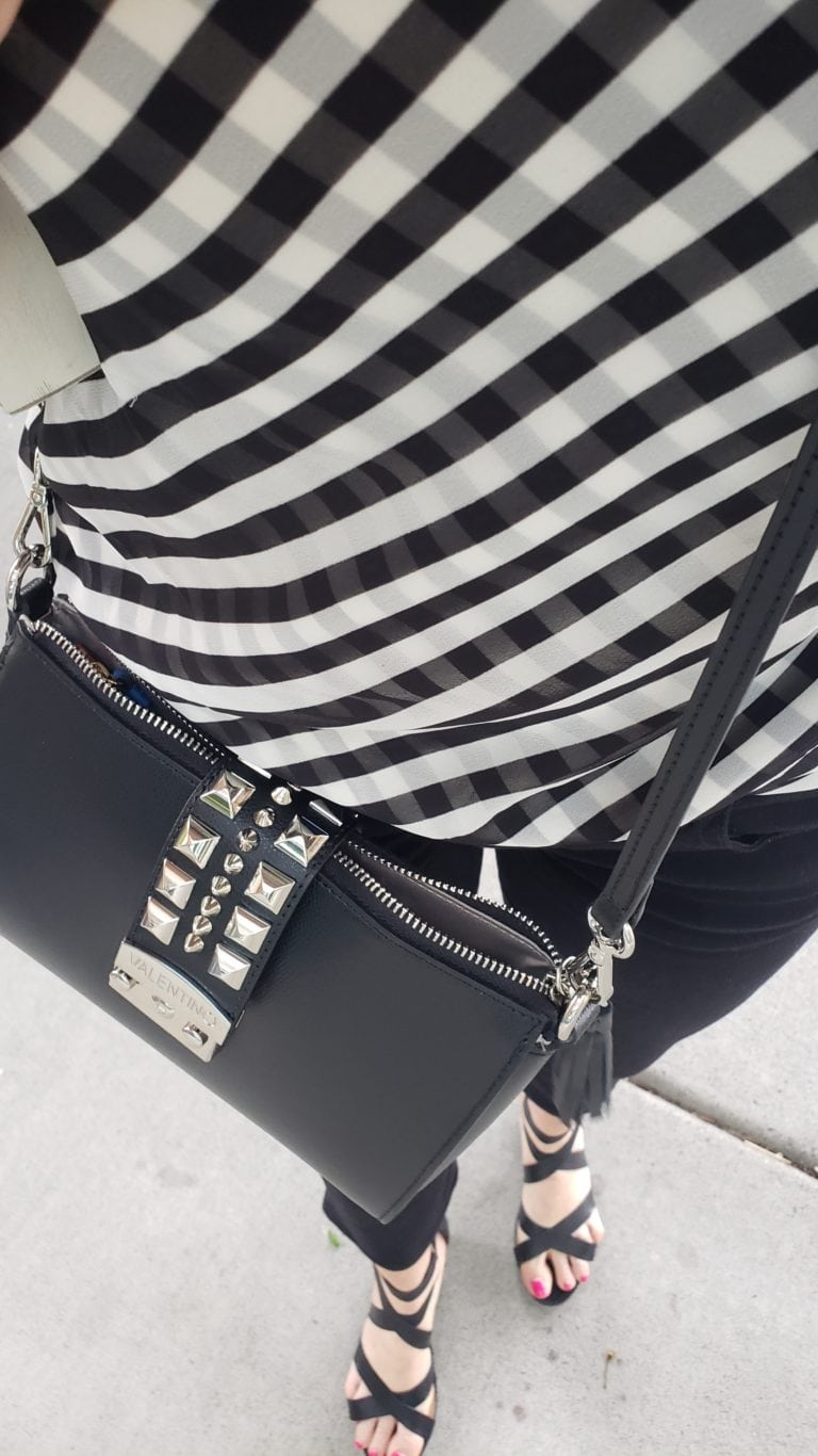 Black and white outfit ideas gingham 3