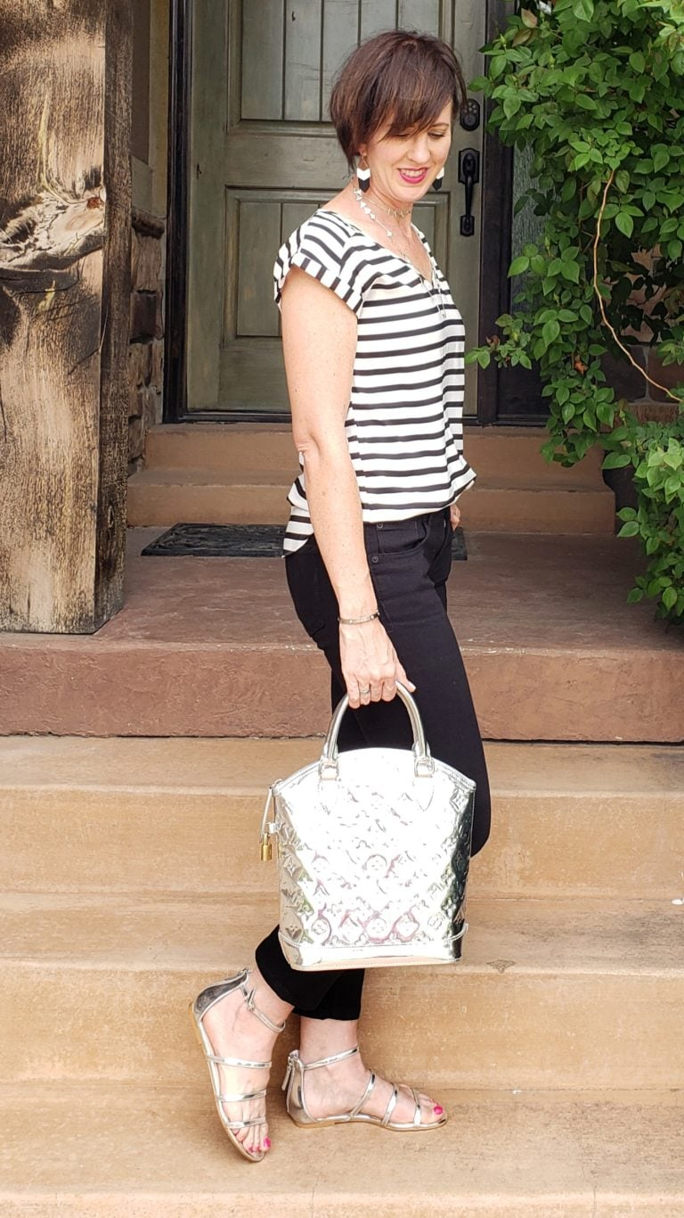 Black and white outfit ideas stripes