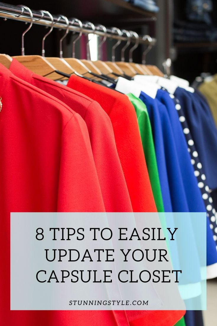 Tips to easily update your capsule closet P