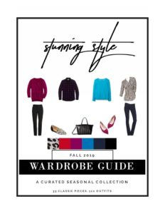 Stunning Style Fall 2019 Capsule Wardrobe Guide