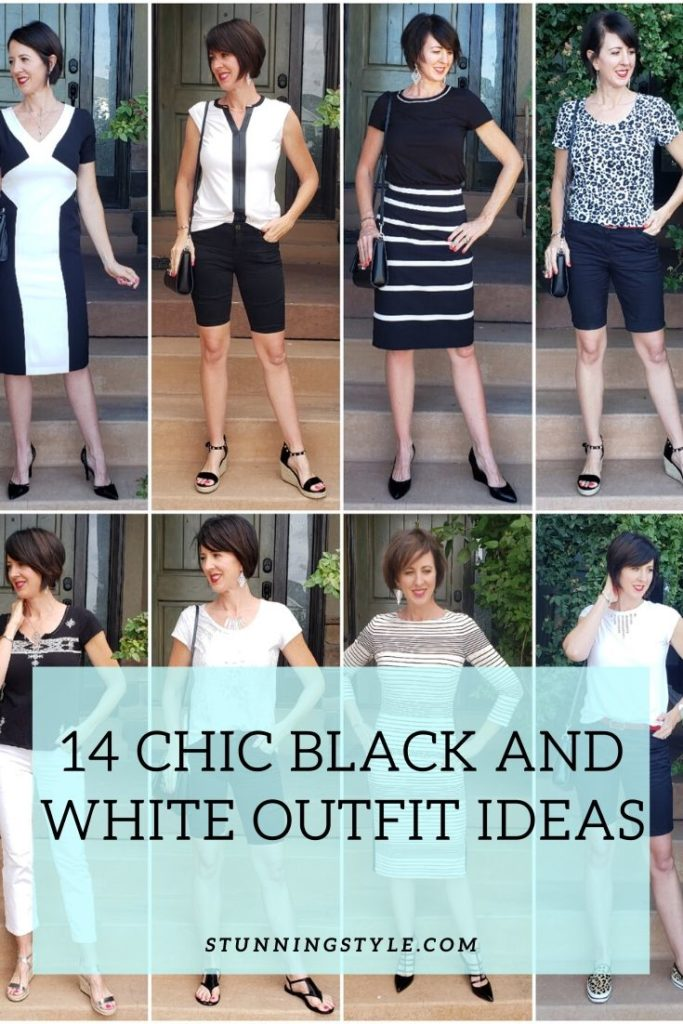Chic Black and White Outfit Ideas