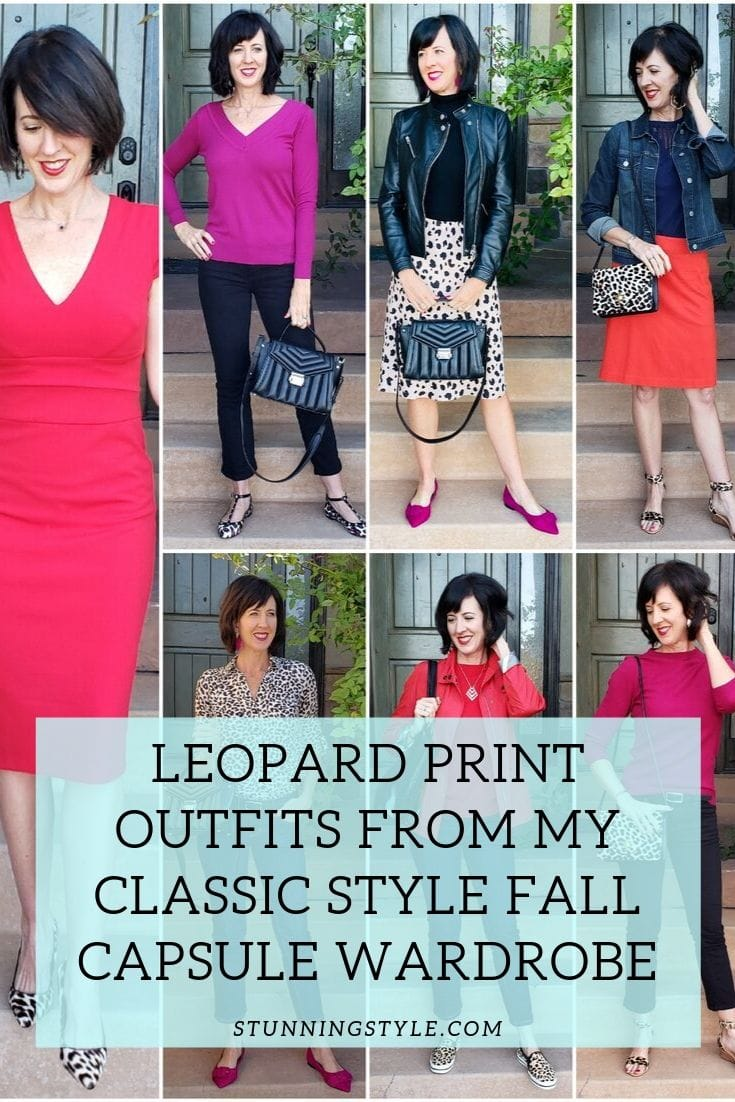 leopard print outfits from my fall capsule wardrobe