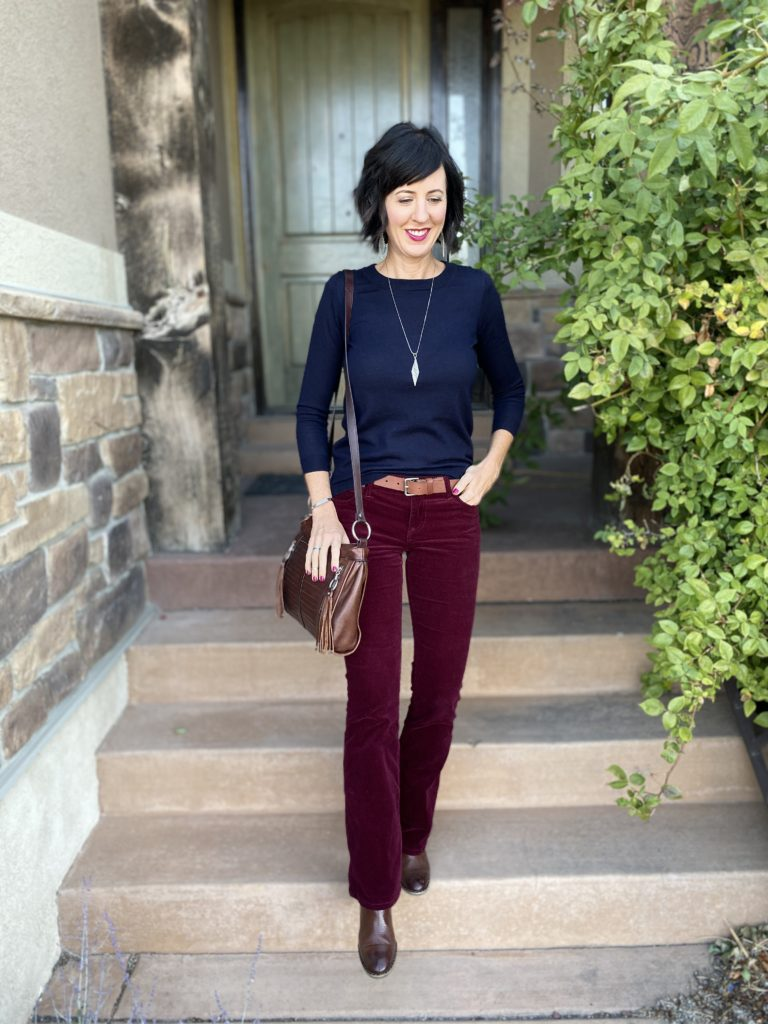 burgundy outfit 1