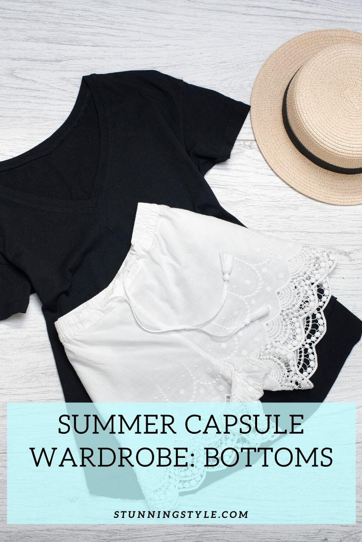 Summer Capsule Wardrobe Essentials Bottoms