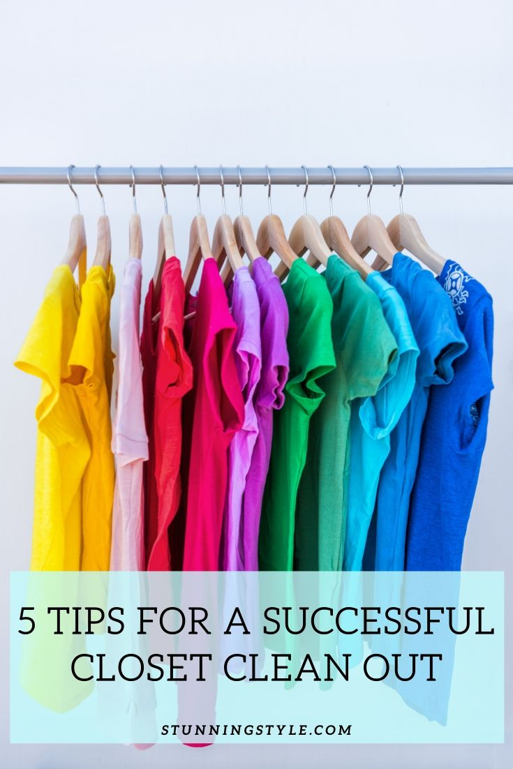 5 tips for a successful closet clean out