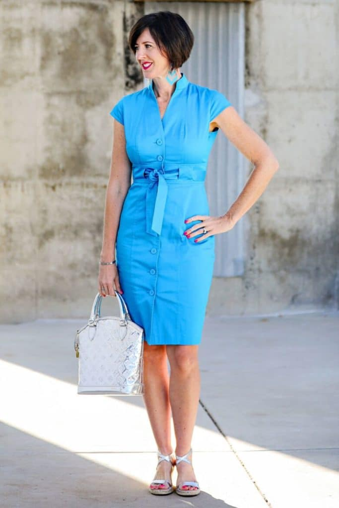 What Does Your Style Say About You? - April in turquoise dress
