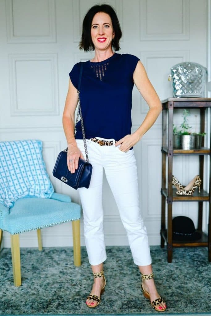 What Does Your Style Say About You? - Navy white and leopard spring