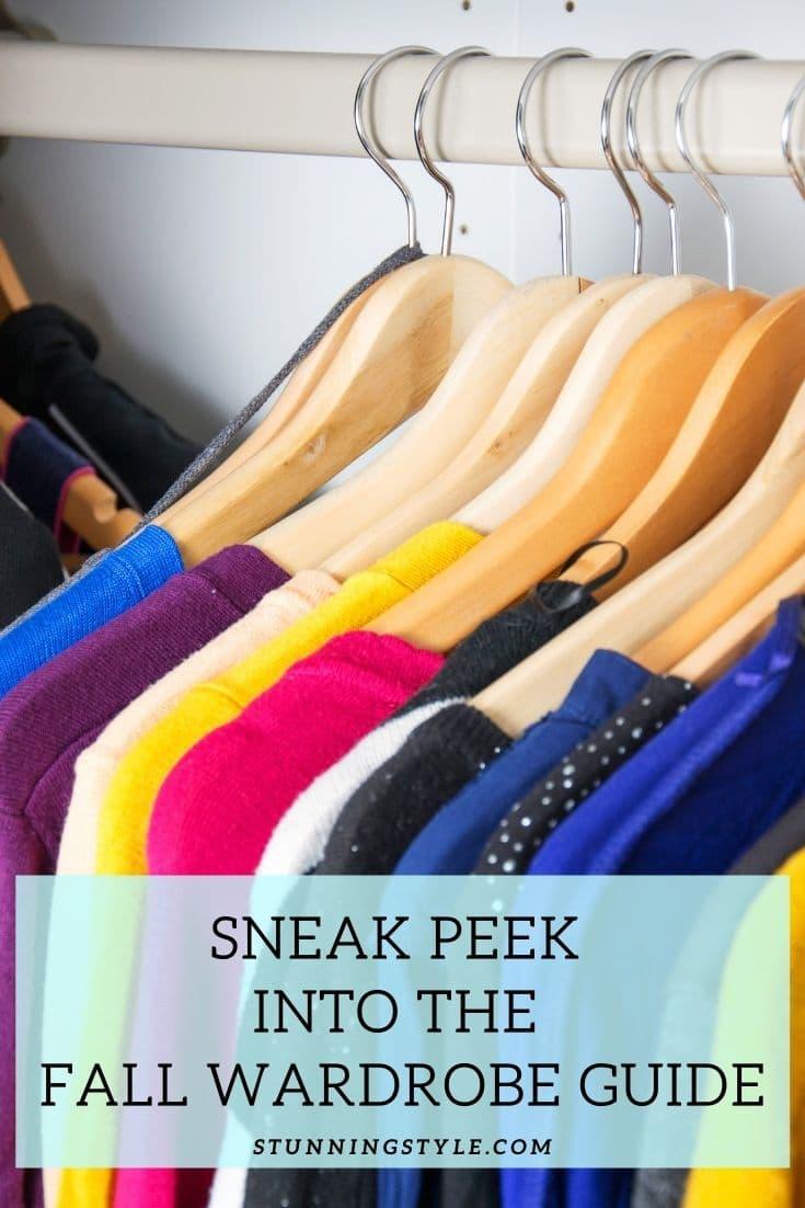 Sneak Peek Into the Fall Wardrobe Guide
