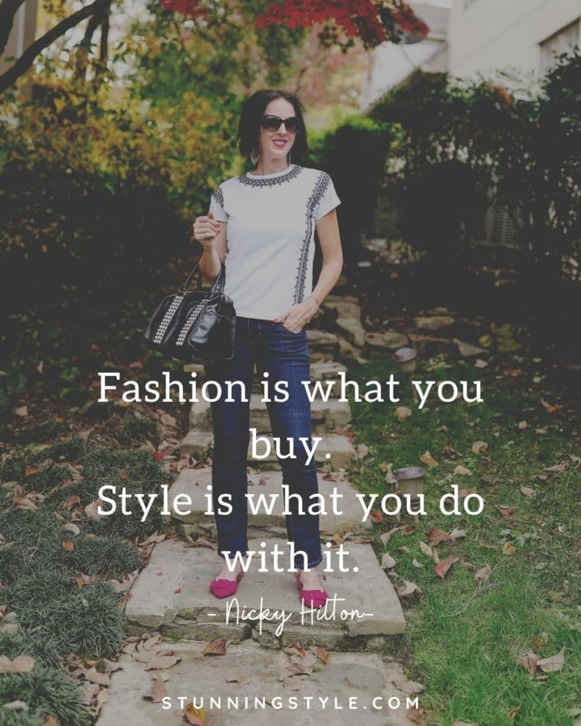 Effortless Style Series:Fashion is what you wear style is what you do with it