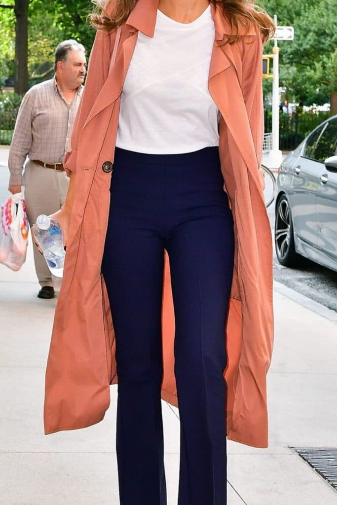Jessica Alba showing off her signature soft classic style.