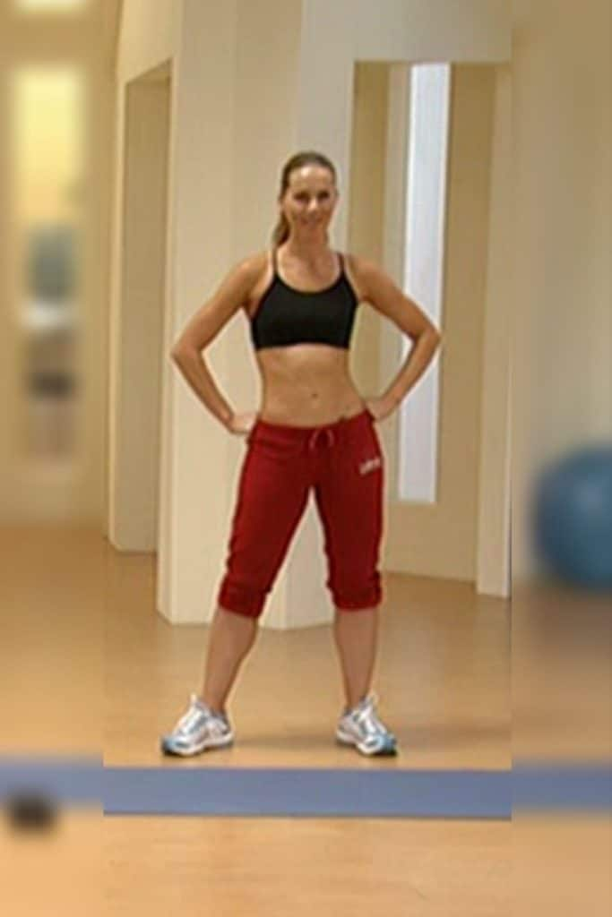 Anita from The 30-Day Shred has a pear-shaped body.