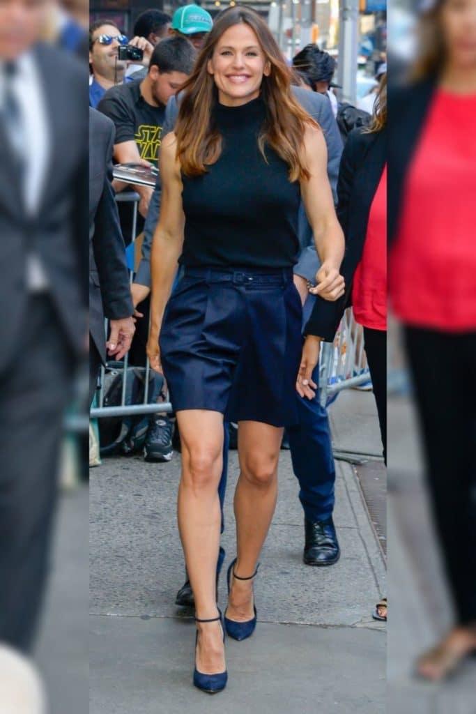 Jennifer Garner has an inverted triangle body shape.