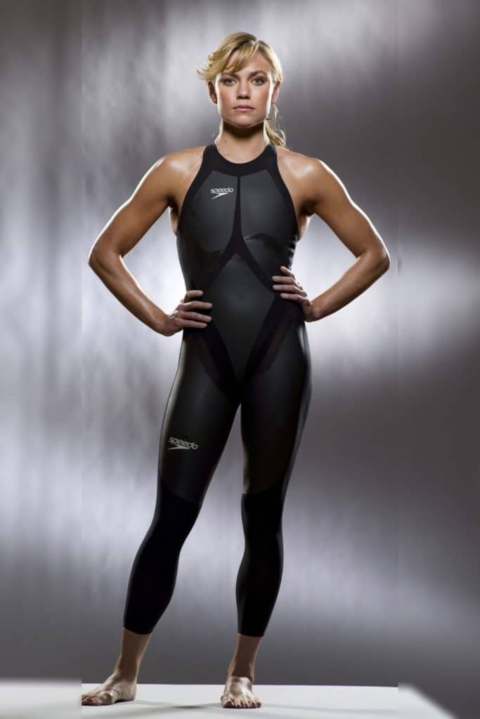 Natalie Coughlin is an inverted triangle olympic swimmer.
