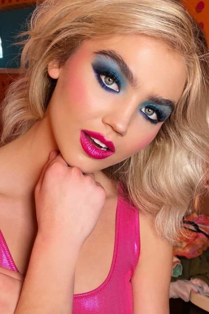 80's makeup look from glaminati.com