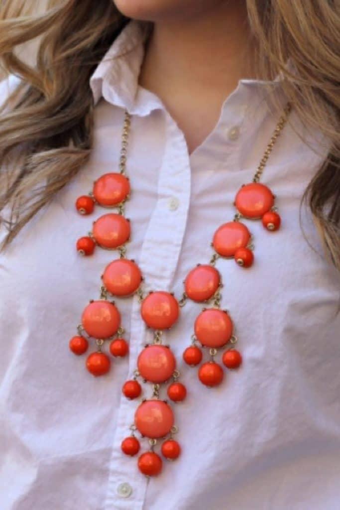 Bubble necklace trend.