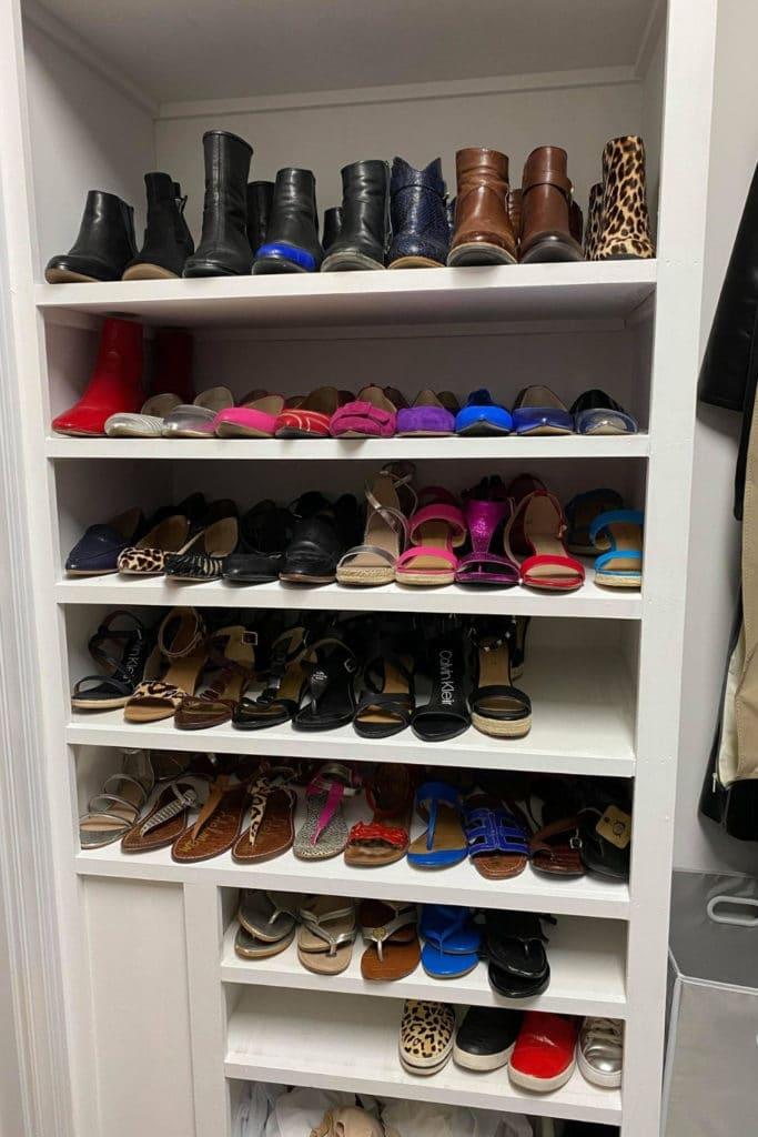 Shoe Shelves after