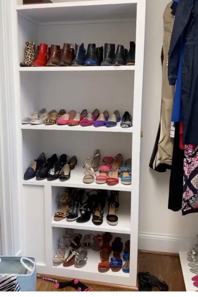 Shoe Shelves before