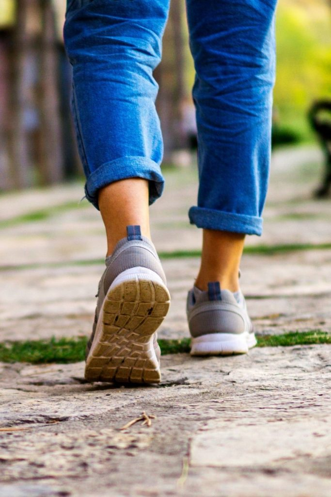 Going for a daily walk is a great way to commit to self-care.