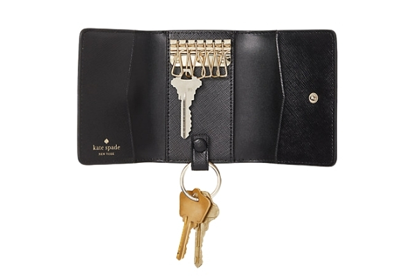 A key holder to keep your bag organized, one of April from Stunning Style's handbag tips.