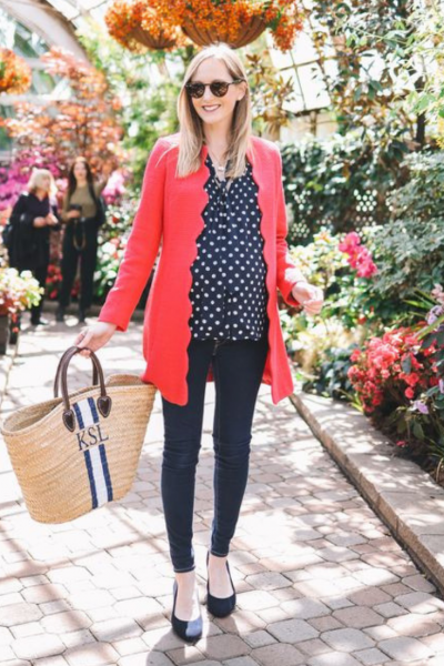 Kelly in the City polka dots and scallops