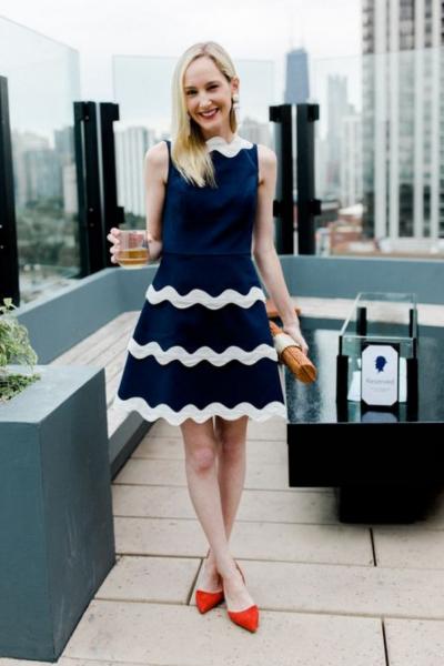 Kelly in the City polka ric rac dress