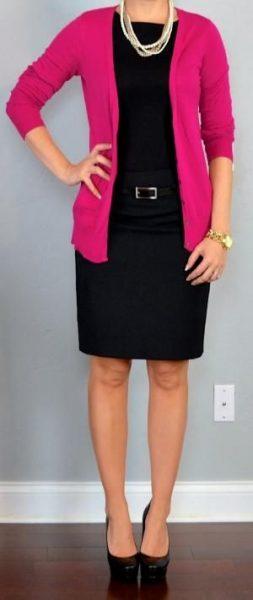 Minimal style pink cardi